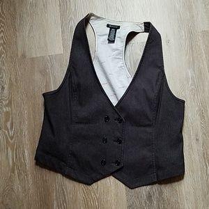 Ronson black gray vest